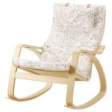 POÄNG Rocking Chair, Birch Veneer, Vislanda Black/white
