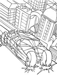 Batmans Enemy Car In The City Coloring Page