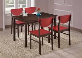White Or Walnut Wood Rectangle Kitchen Dinette Dining Table 4 Green Red