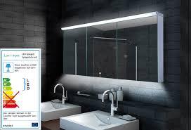 aqua design badezimmer spiegelschrank mit led