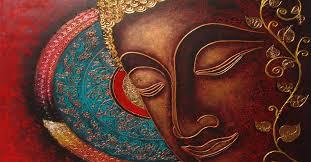 Buddha Painting Thai Contemporary Art