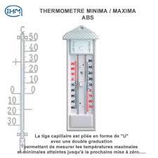 thermometre maxima minima exterieur thermomètre ambiant clic discount