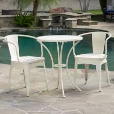 Great White Outdoor Bistro Set Rustic Modern 3 Piece Off Cast Ebay