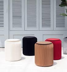 moderne kraft papier stuhl 35cm hohe faltbare bench hocker