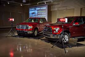 Aluminum F-150 As Safe As Steel But Repair Costs Higher | Michigan Radio Best Deal On A Ford F150 Gurnee Il Al Piemonte Can Make 300 F150s Per Month Just From Its Own Alinum Allnew 2015 Ripped From Stripped Weight Houston Chronicle The Story Behind Bed Medium Duty Work Truck Info Raptor Gets Ecoboost V6 New Chassis And Alinum Body W Tests Strength Of 2017 Super With Accsories Fords Truck Is No Lweight Fortune New F350 Crew Cab Service Body For Sale In Reading Pa 2016 Vs Ram 1500 Caforsalecom Blog 2019 Toughest Heavyduty Pickup Ever Real Cost Repairing An Consumer Reports General Motors Pushing Trucks Cardinale Gmc