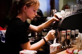 Coffee Girl Making Espresso