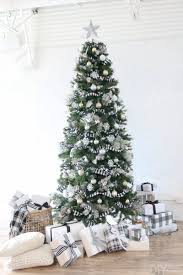 Black And White Christmas Tree For The Holidays