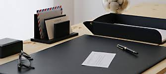 Leather Desk Blotters Uk by Large Desk Pad Blotter 23 6 X 15 7 Inches