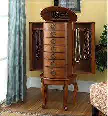 Armoire : Solid Wood Jewelry Armoire Locking Door Swivel Stand ... Best 25 Jewelry Armoire Ideas On Pinterest Cabinet Brown Wood Armoire Stealasofa Fniture Outlet Los 100 Home Decators 9 Standing Wall Jewelry Abolishrmcom Mirror Wall Mount Images Decoration Ideas Collection Black 565210 The Box Kohls With White Diy Lotus In Tanbrown Armoire96890200 Table Surprising Oxford My Socalled Diy Blog
