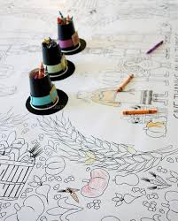 Kids Thanksgiving Paper Table Covering To Colorhave Staples Print A 3