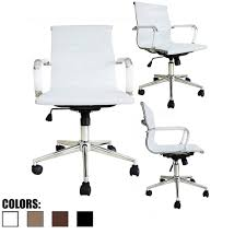Desk Chair With Arms And Wheels by Amazon Com 2xhome Euro Managerial U0026 Executive Chair Mid Back Pu