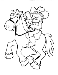 Cowboy Coloring Pages 5