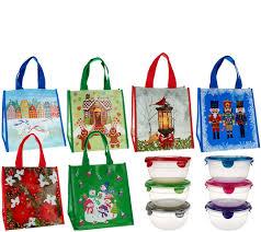 Qvc Christmas Tree Storage Bag by Lock U0026 Lock 6 Piece Bowl Set W 6 Holiday Gift Bags Page 1 U2014 Qvc Com