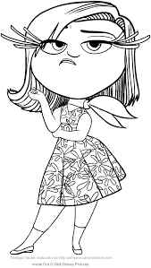 Disgust Inside Out Coloring Page To Print