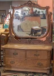 Birdseye Maple Highboy Dresser by Antique Beautiful Serpentine Tiger Oak Princess Dresser Vanity