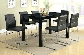 High Top Table With Bench Modern Counter Height Tall Dining Room Sets Pertaining To Ideas