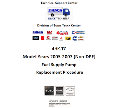 100 Carmenita Truck Center 20052007 NSeries 52L Diesel Supply Pump Replacement Tech Help