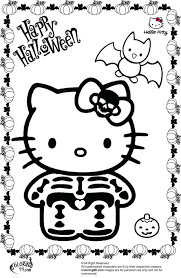 Coloring Pages Cute Cat Kitty Skeleton Free Pictures Hello Picture