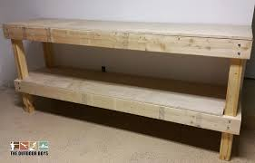 step by step diy wood garage work bench the outdoor boys