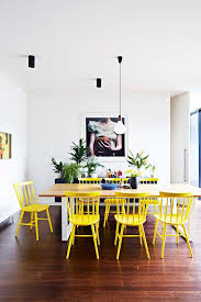 Yellow Dining Room Chairs Leather Wood