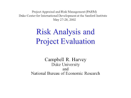 bureau for economic research risk analysis and project evaluation cbell r harvey duke