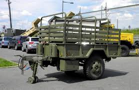 100 Two Ton Truck M105A2 Wheel Cargo Trailer 1 12