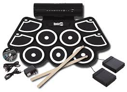 Foot Pedal Faucet Kit by Amazon Com Rockjam Electronic Roll Up Midi Drum Kit With Built In