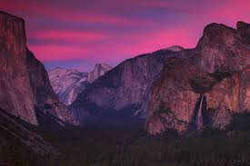 Yosemite National Park Tunnel View Ansel Adams Galen Rowell Waterfall Bridalveil