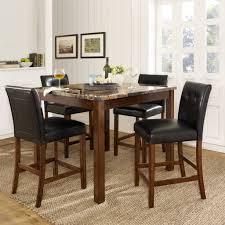Dining Room Furniture Luxury Mainstays 5 Piece Glass Top Metal Set Walmart