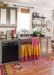 We Love This Bohemian Carpet For Kitchen DecorFar Above Rubies Chic Spring Home Tour