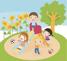 Kids Clipart Playground Playing On Clip Art