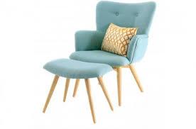 le sur pied design pas cher fauteuil et repose pieds scandinaves bleu gail design en direct de