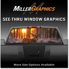 Buck Deer Sunset #3 Rear Window Decal Graphic Truck SUV   EBay Best Window Decals Graphics In Calgary For Trucks Cars Auto Motors Intertional English British Flag Rear Graphic Black Eagle Miller 19972018 F150 American Muscle Perforated Real 3d Grim Reaper Death Skull Decal Sticker Car Flying Pilot F16 Truck Suv Van Etsy Buy Grassland Camo Ducks Harley Davidson Platinum Design Build Co Coastal Sign Llc Buck At Dawn Police Elite And