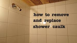 how to remove shower silicone caulk and apply new and