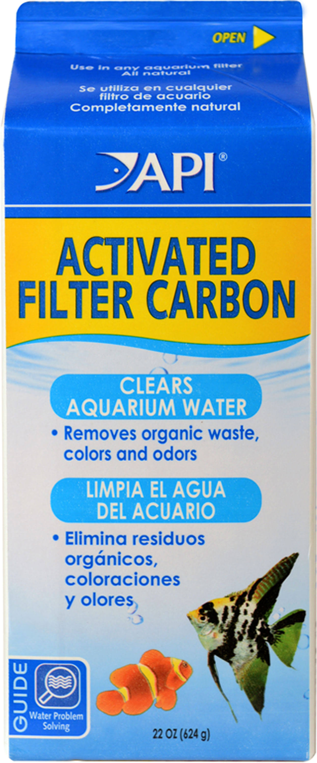 API Aquarium Pharmaceuticals Activated Filter Carbon - 28oz