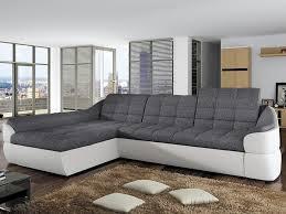 canapé d angle design tissu canapé d angle en tissu et simili 2 coloris farez