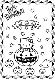 Coloring Pages Pumpkin Hello Kitty Halloween Pdf Sheets For Toddlers Adults Printable