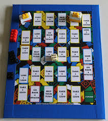 Homemade Lego Game Board Letter Size On Cardboard Free Printout And Instructions So Easy
