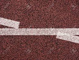 White Lines And Texture Of Running Racetrack Red Rubber Racetracks
