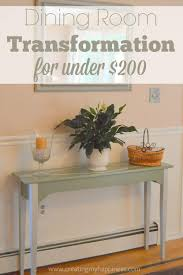 Dining Room Furniture Under 200 by Dining Room Transformation For Under 200