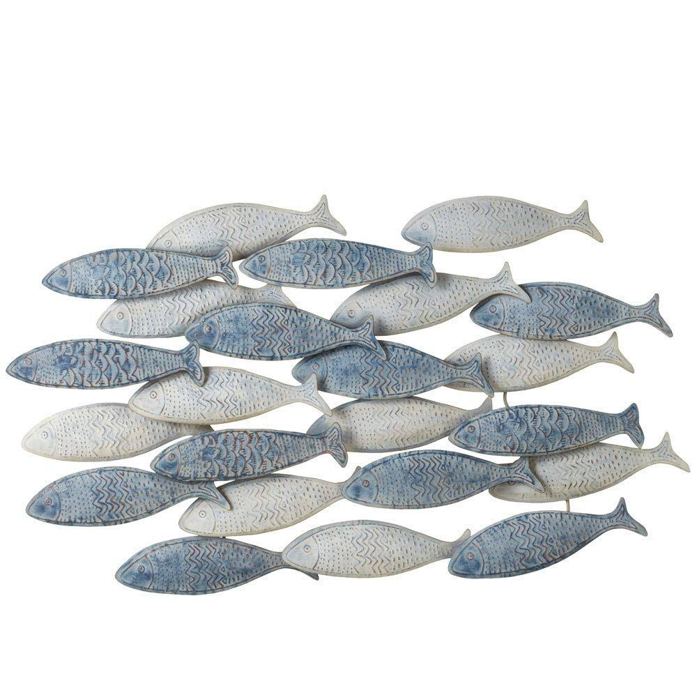 Midwest-CBK Weathered Layered Embossed Fish Wall Decor