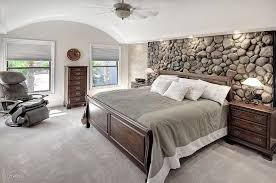 Rustic Master Bedroom With Roundhill Furniture Isola Louis Philippe Style Wood Sleigh Bed Veneerstone River