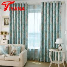 American Rustic Style Quality Elegant Floral Printed Curtains For Living Room Bedroom Kitchen Cloth Drapes