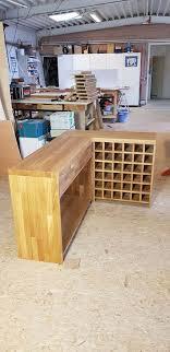 eichen sideboard über eck inkl weinregal aus massivholz neu
