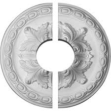 westinghouse victorian 16 in white ceiling medallion 2 piece
