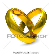 Drawing Two gold wedding rings Isolated 3D image Fotosearch Search Clipart