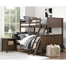 Dorel Living Maxton Mocha Twin over Full Bunk Bed Free Shipping