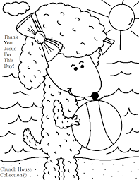 Here Is A Fun Summer Coloring Page Of Sheep At The Beach Just Pick If You Need Colored Or Black And White Then Print It