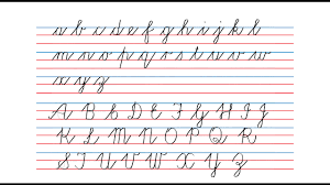 How to write in cursive cursive writing