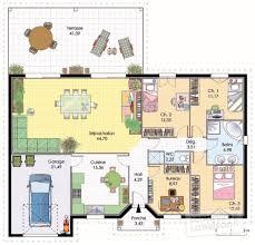 plan maison contemporaine plain pied 3 chambres dessiner salle de bain gratuit 14 plan maison plain pied 3